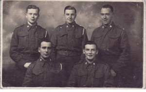 from back left: Bill Kermode, unknown, Bob Curphy, Jimmy Blackburn and Douglas (Dougie) Jackson